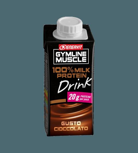 ENERVIT GYMLINE MUSCLE 100% MILK PROTEIN DRINK GUSTO CIOCCOLATO