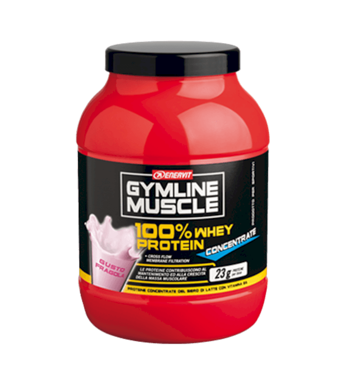 ENERVIT GYMLINE MUSCLE 100% WHEY PROTEIN CONCENTRATE FRAGOLA