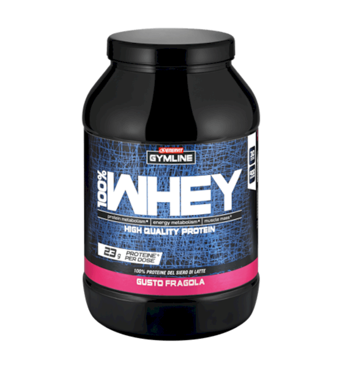 GYMLINE 100% WHEY PROTEIN CONCENTRATE FRAGOLA