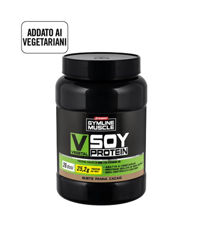 ENERVIT GYMLINE MUSCLE VEGETAL SOY PROTEIN PANNA - CACAO