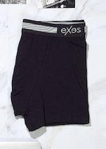 Bielastic cotton boxer with external elastic band
