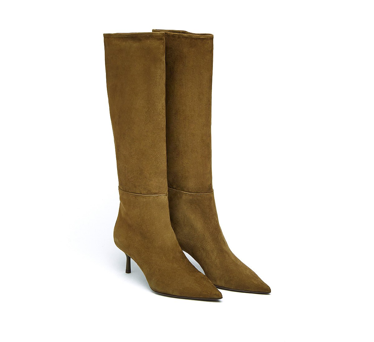 Soft suede boots