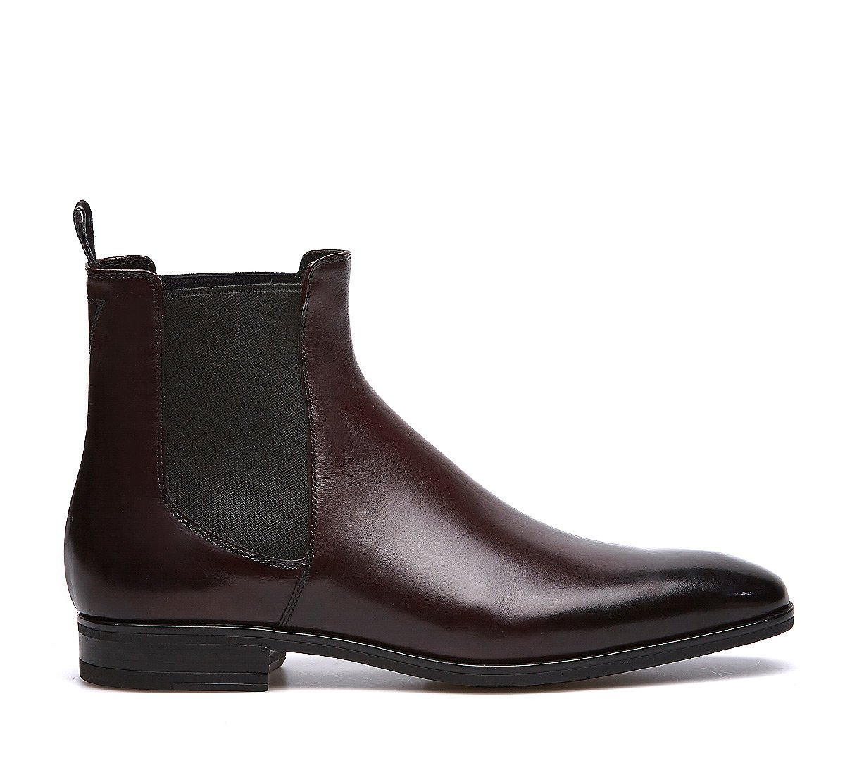 Beatle boot in luxury calf leather with wool lining
