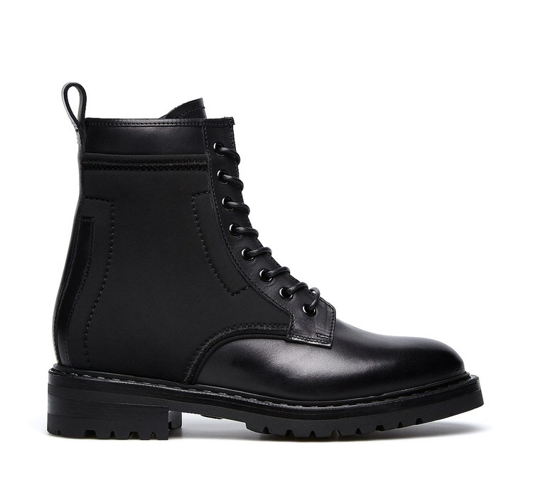 Barracuda all-black combat boots