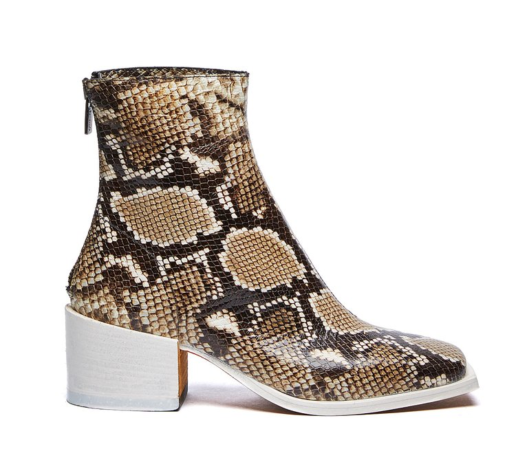 Barracuda ankle boots with snakeskin print