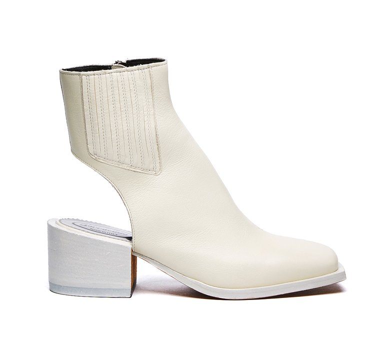 White Barracuda ankle boots