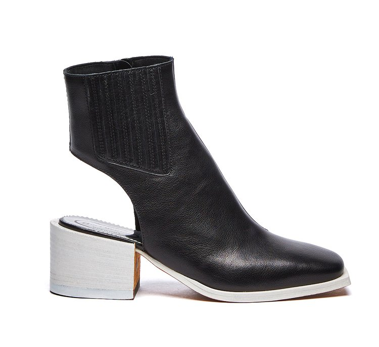 Two-tone Barracuda ankle boots