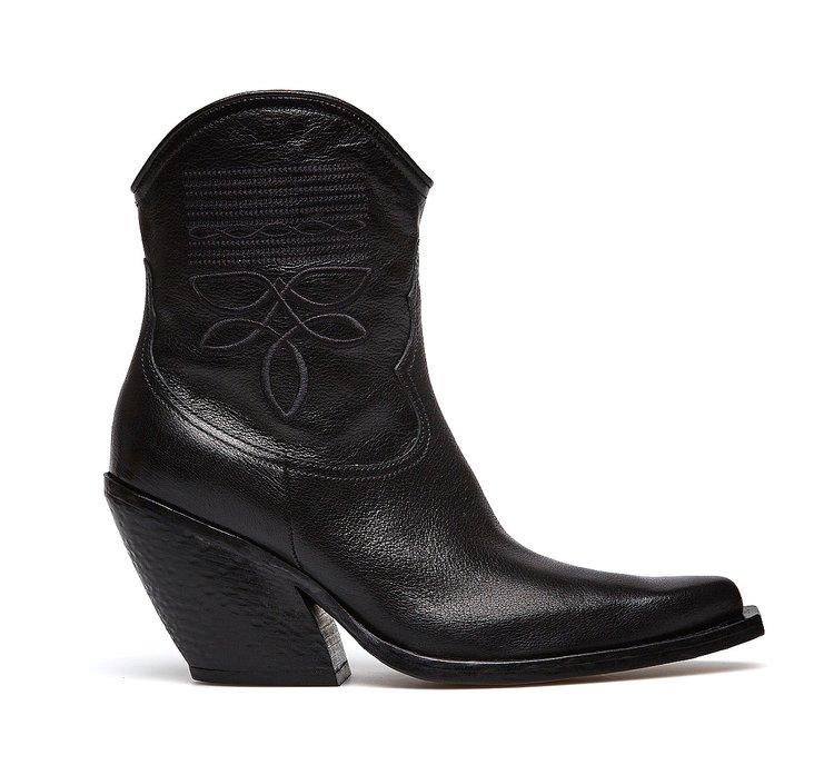 Barracuda soft calfskin cowboy boots