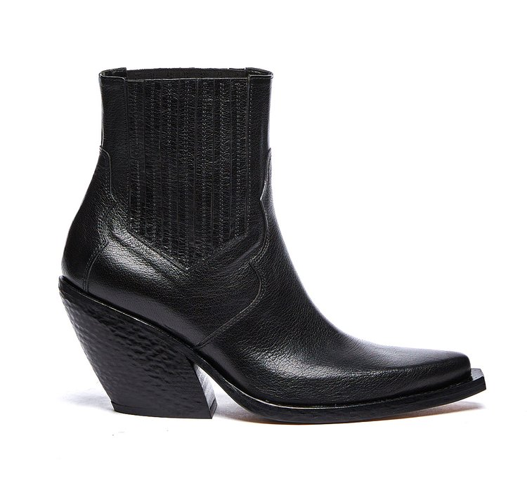 Black Barracuda cowboy boots