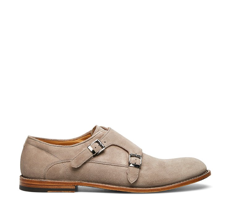 Barracuda Double monk strap calfskin shoes