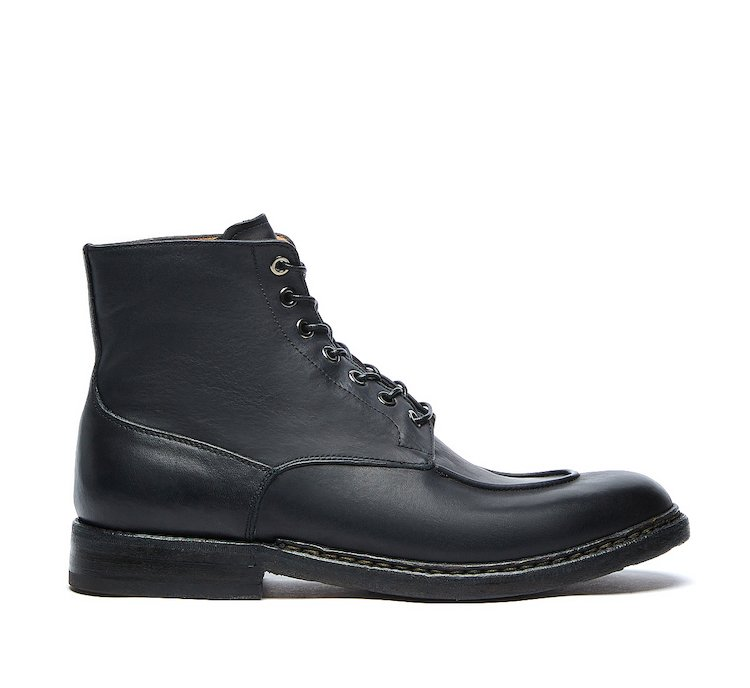 Barracuda vintage commando boots in luxury calf leather