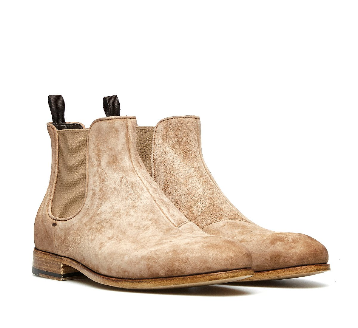 Barracuda Beatles boots in soft suede calfskin