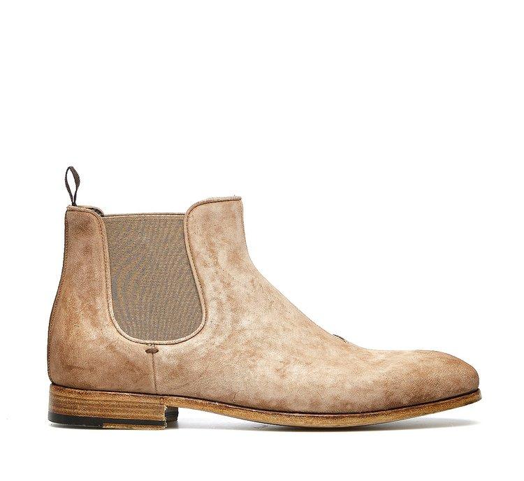 Barracuda Beatles boots in soft suede calfskin