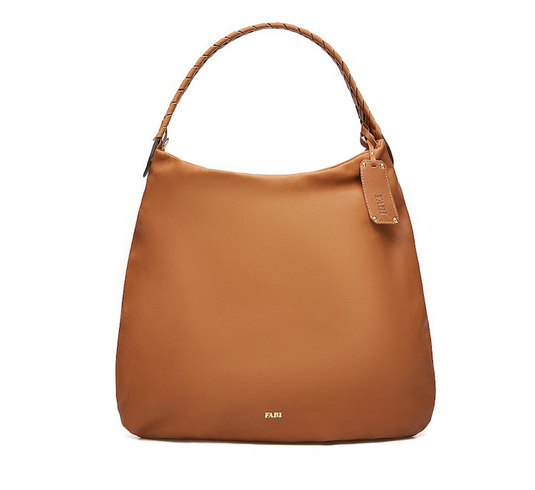 Bucket bag in soft leather