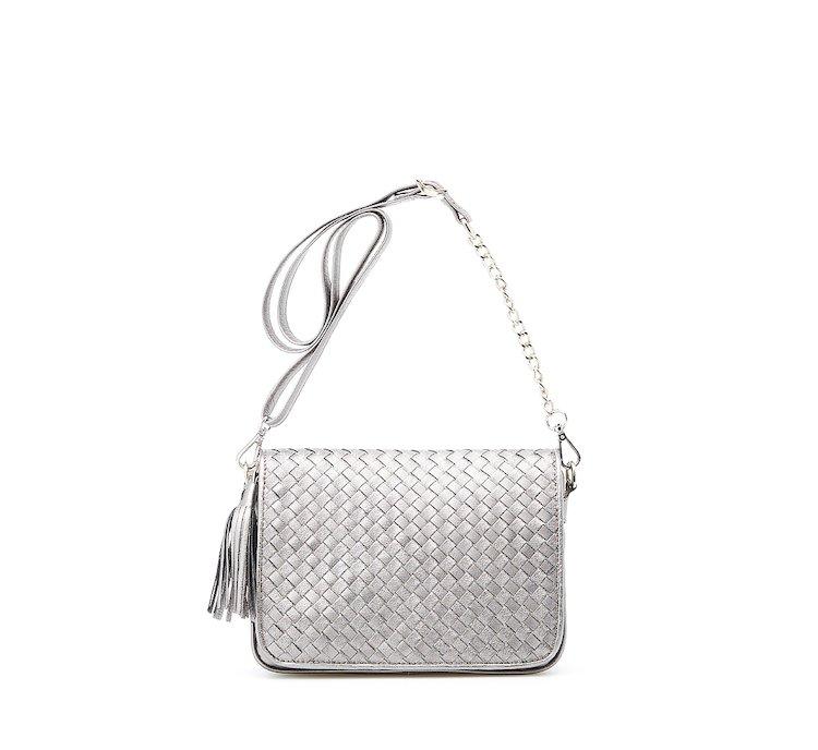 Наплечная сумка с плетением