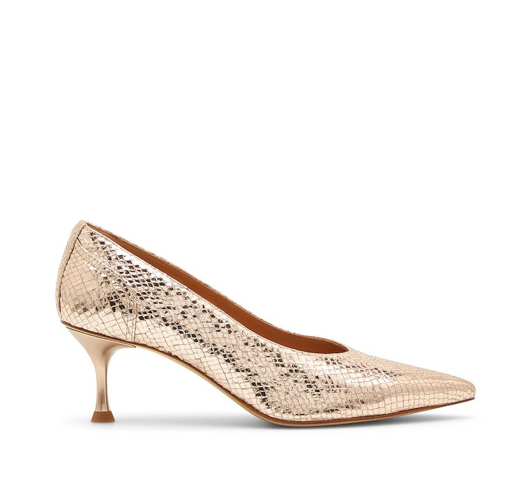 Reptile print patent leather Decolleté