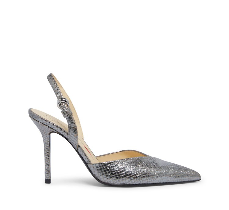 Slingback Fabi classic in laminated leather