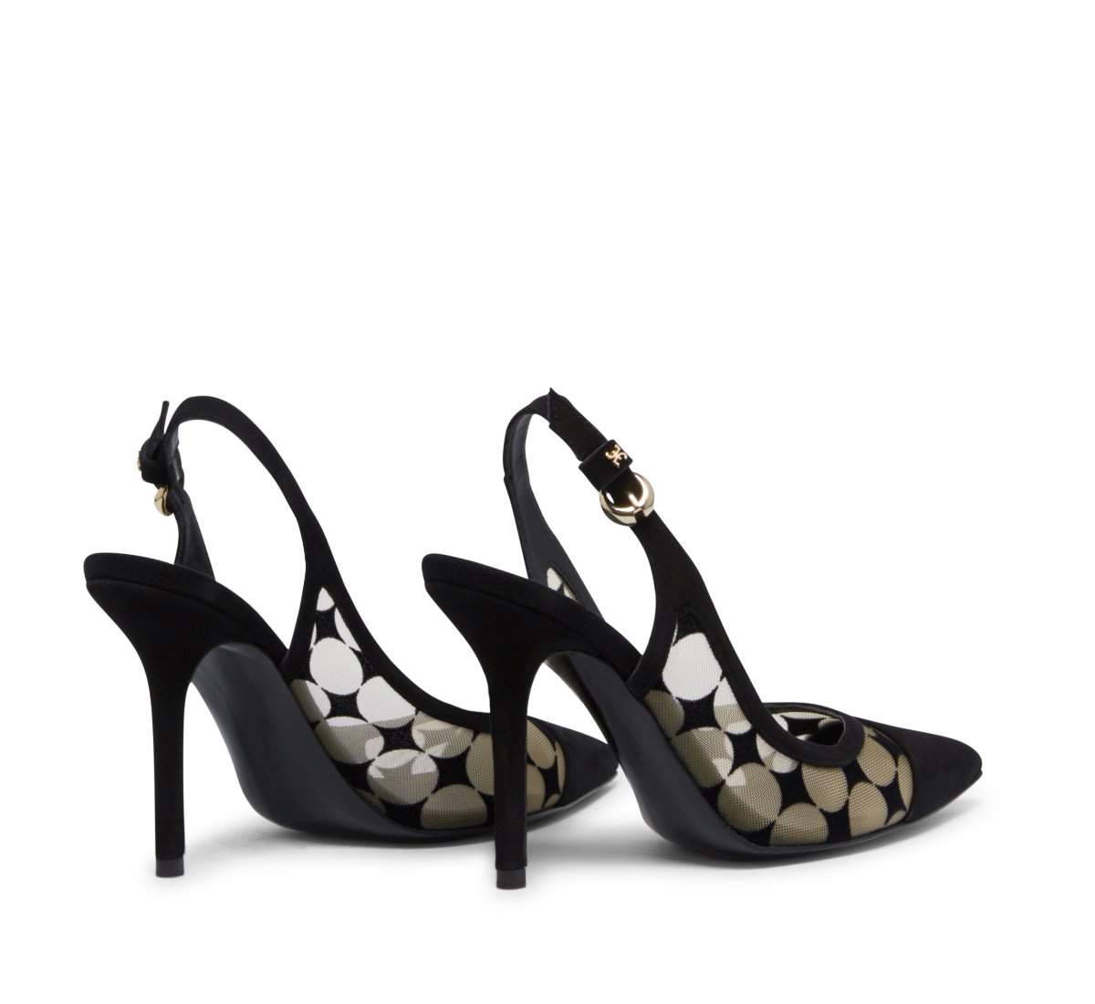 Slingback Fabi Optical in suede and mesh