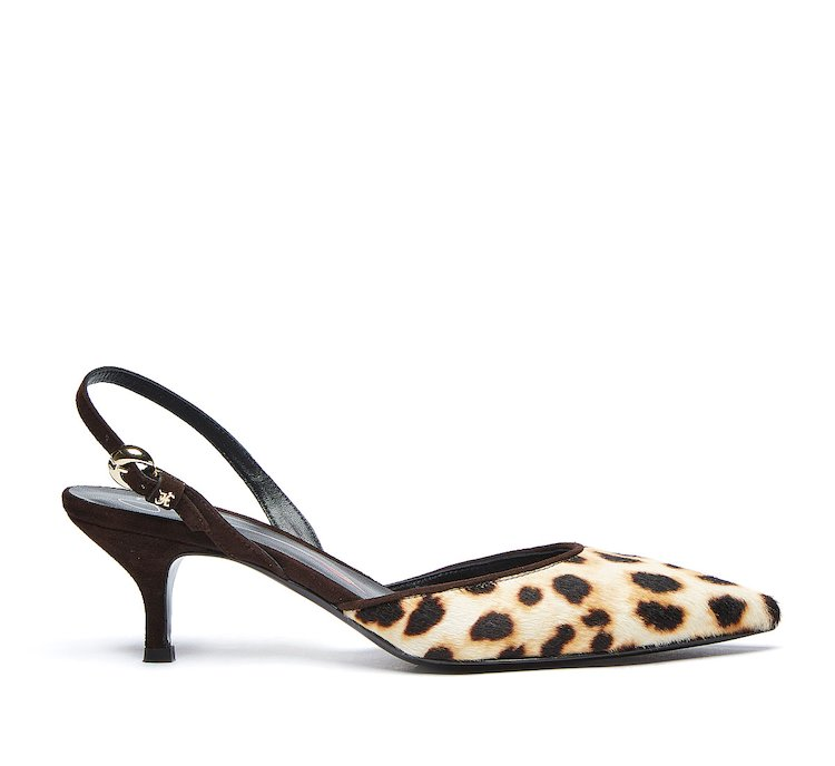 Fabi animal print slingbacks