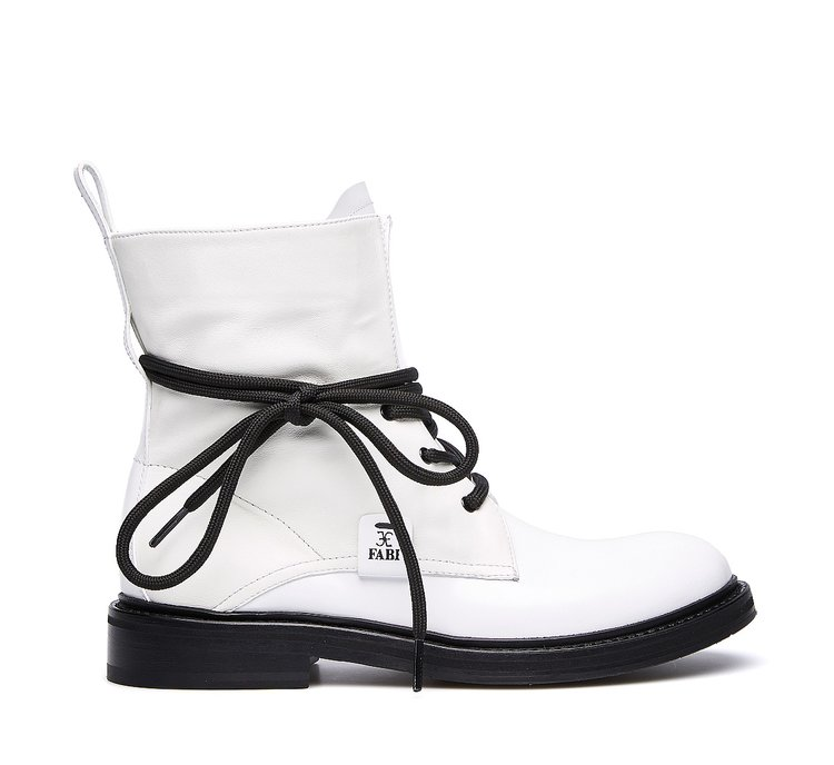 Fabi glossy calfskin ankle boots
