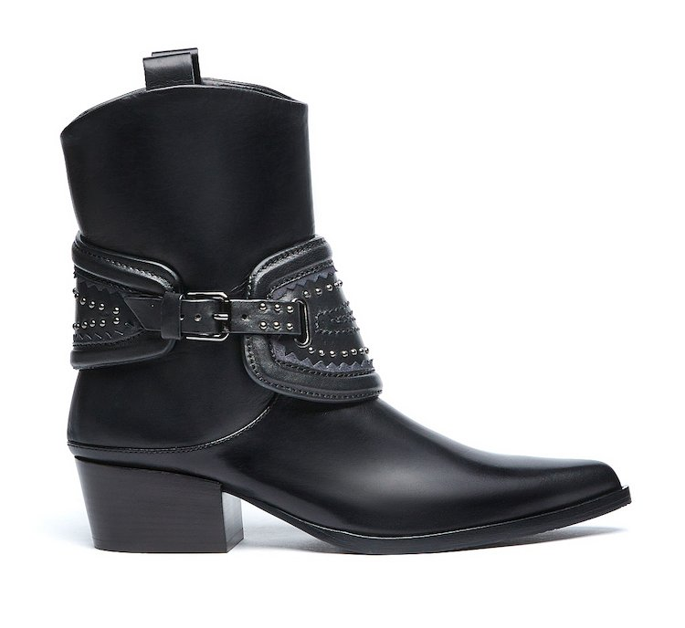 Texan-style boots in super-soft calf leather