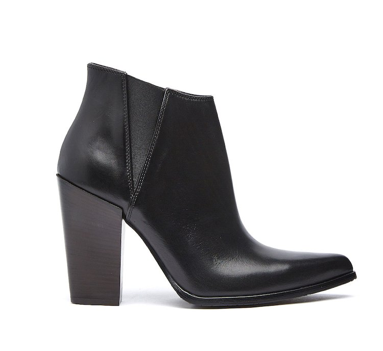 Calf leather ankle boots