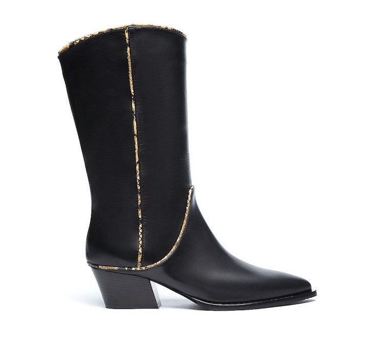 Boot in soft calf leather