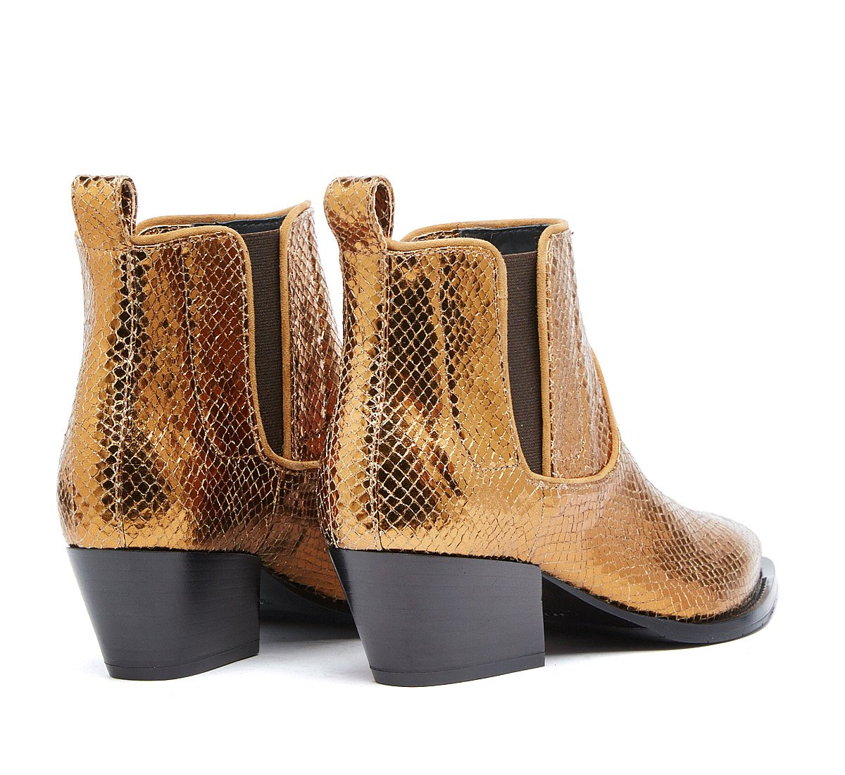 Texan ankle boots in laminated leather