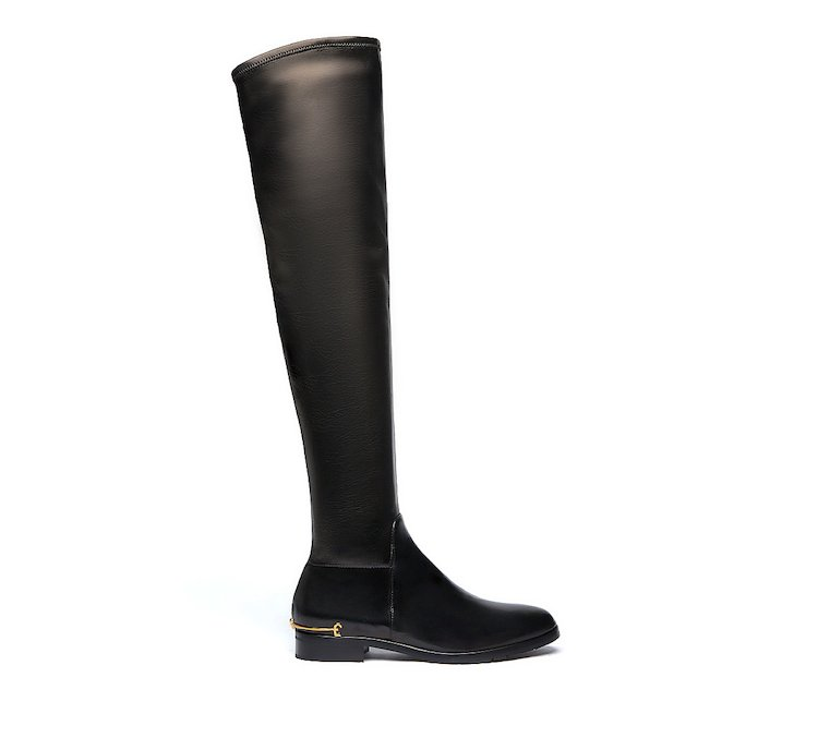 Thigh-high boots in soft nappa leather