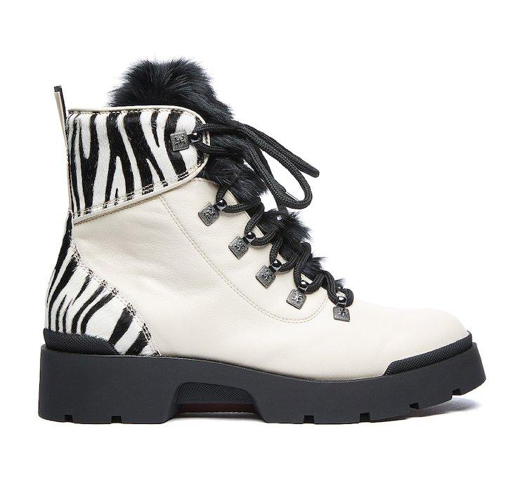 Fabi commando boots in luxury calf leather