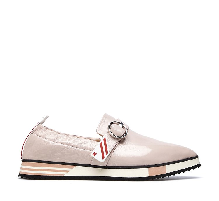 Monk shoes in soft, glossy calfskin