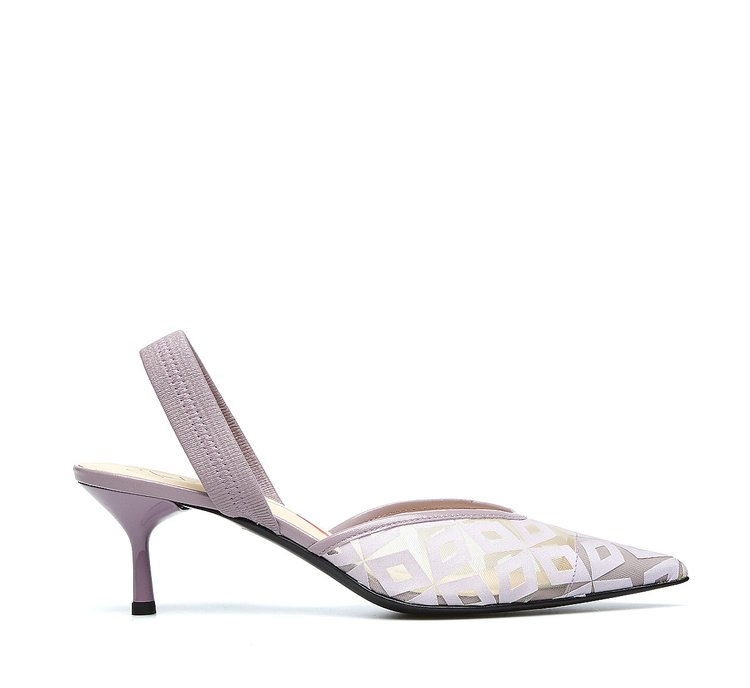 Fabi Optical slingbacks