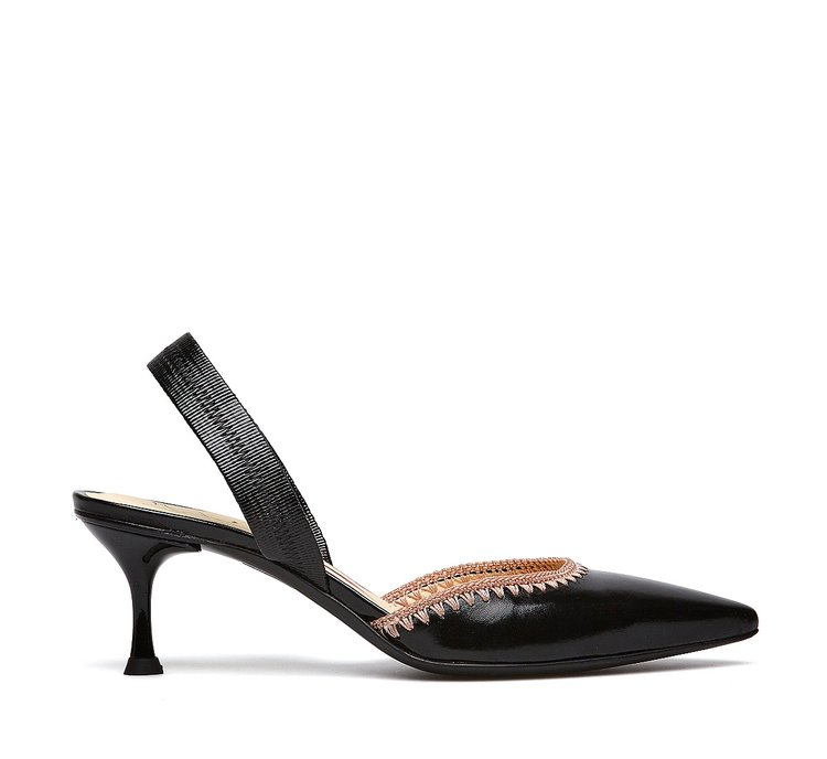 Slingback in vitello lucido