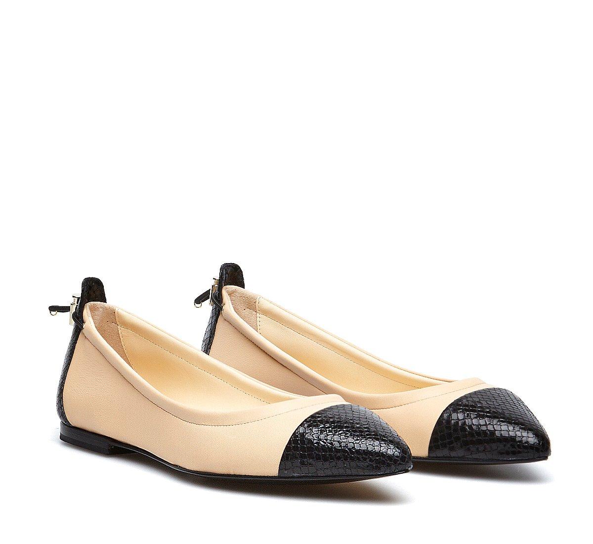 Fabi classic soft nappa ballerinas