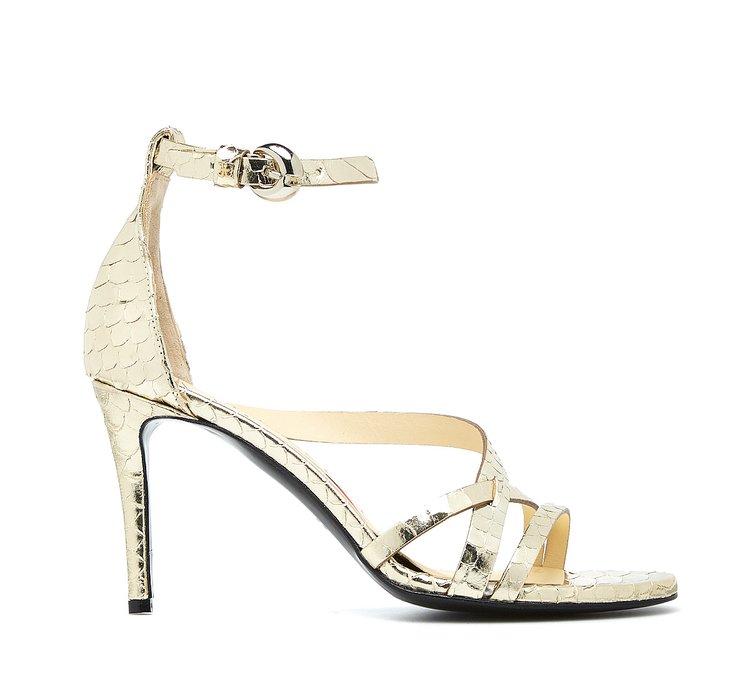 Sandalo stampa rettile