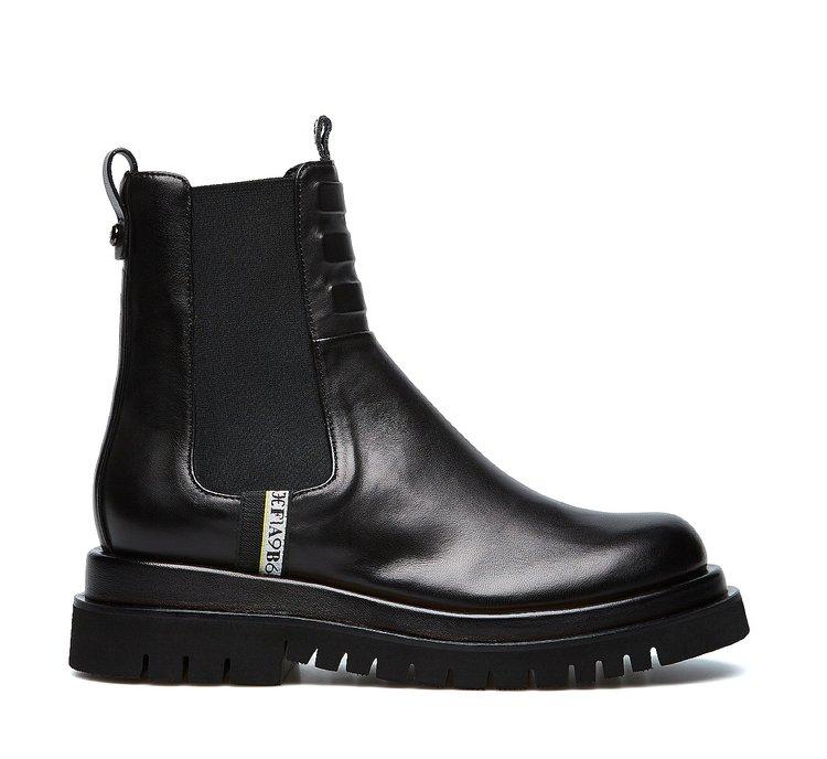 Nappa biker boots