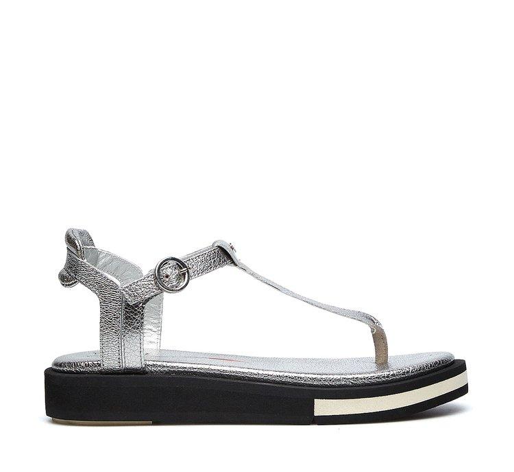 Soft calfskin thong sandals