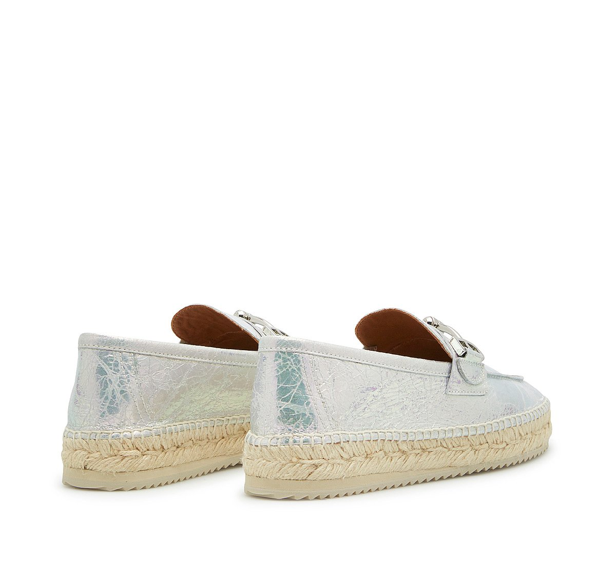 Espadrillas morsetto in craquelè