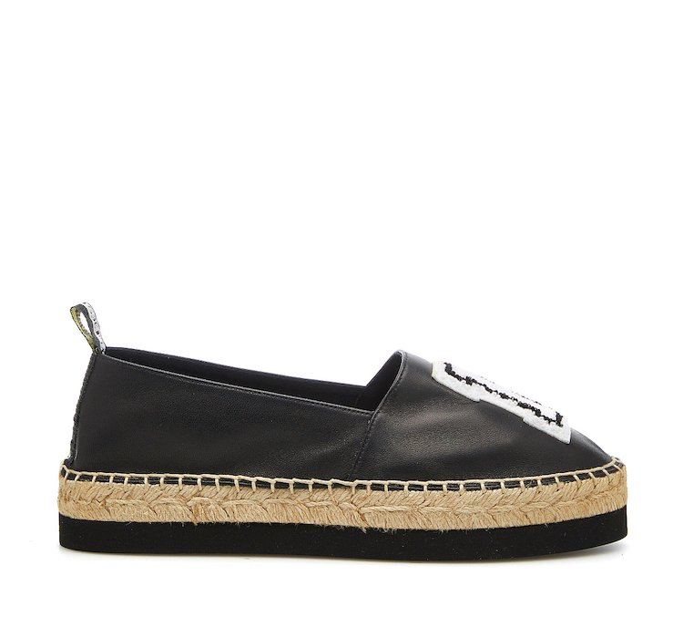 Calf leather espadrilles
