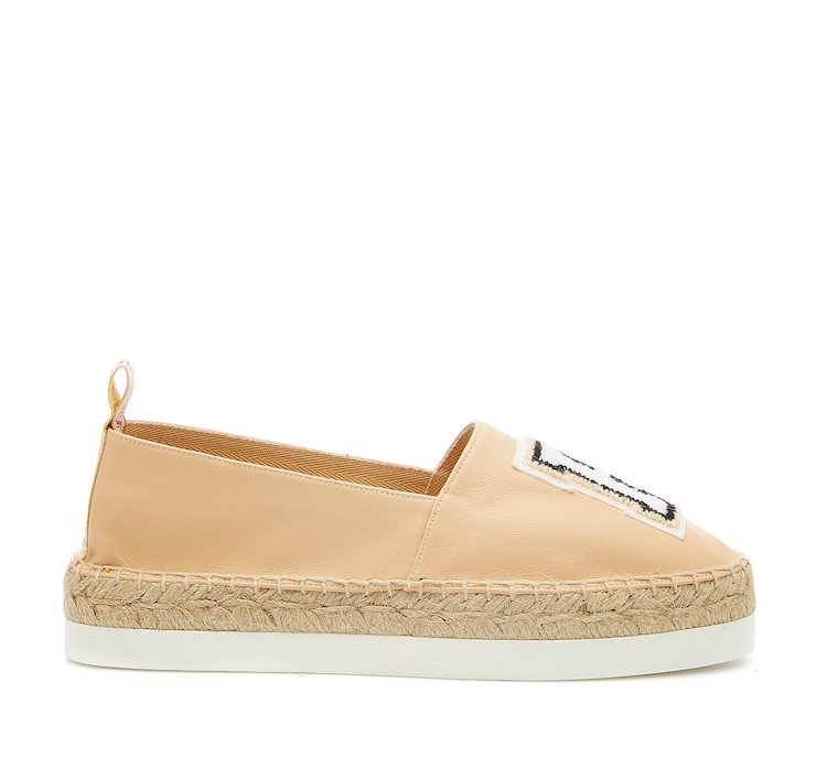 Calf leather espadrilles