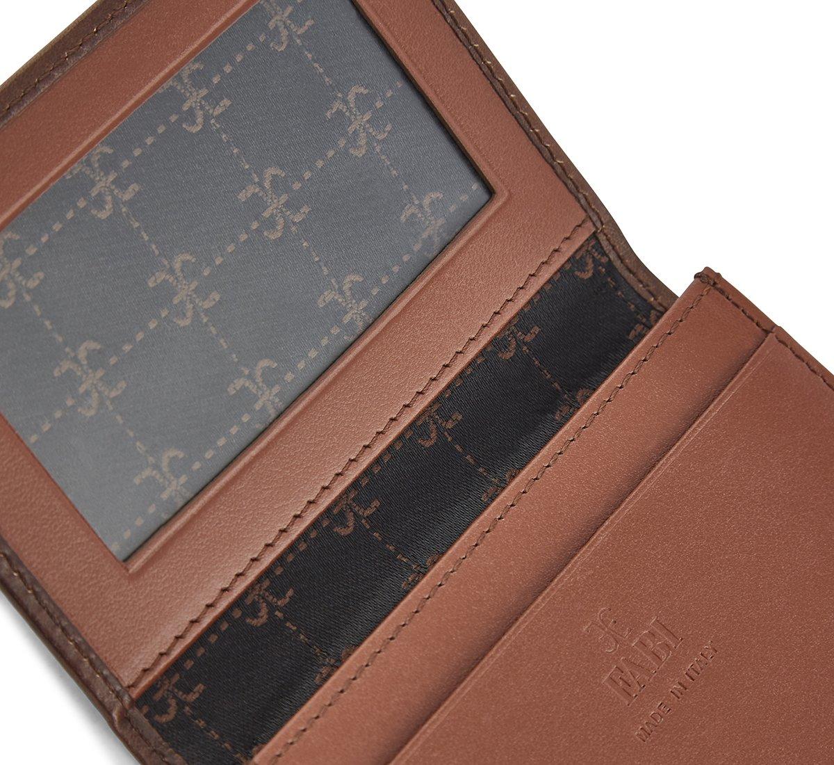 Кредитница из состаренной телячьей кожи, обработанной вручную