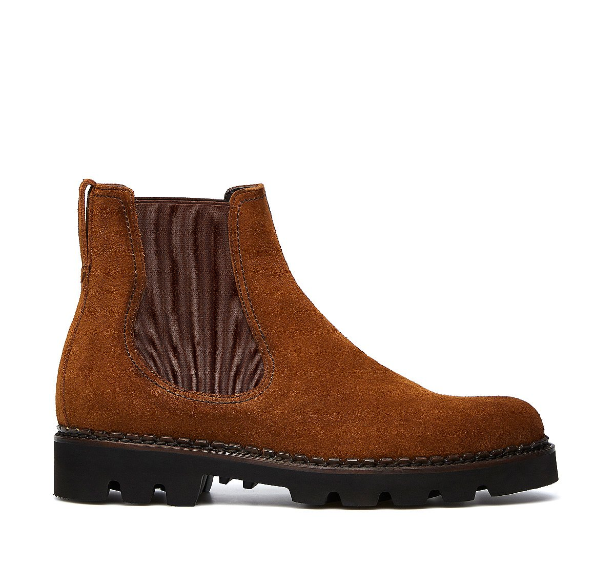 Beatle boots in soft suede calfskin