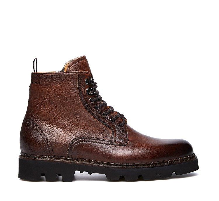 Soft calfskin combat boots