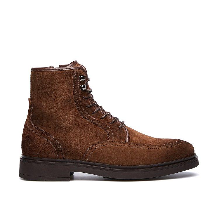 Suede calfskin Beatle boots