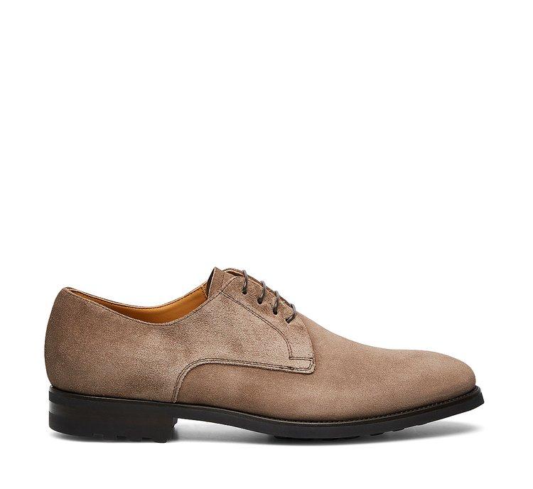 Туфли на шнуровке из замши