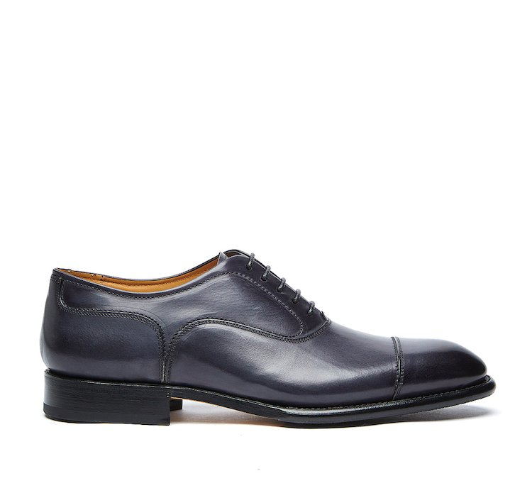 Туфли на шнуровке из телячьей кожи, полированной вручную, конструкции Flex Goodyear