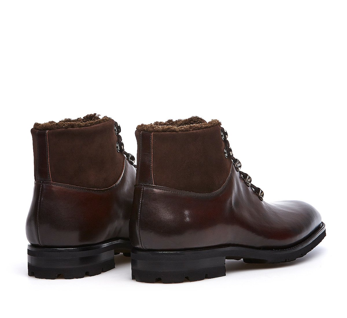 Trekking boots Flex Goodyear in calf leather with wool lining