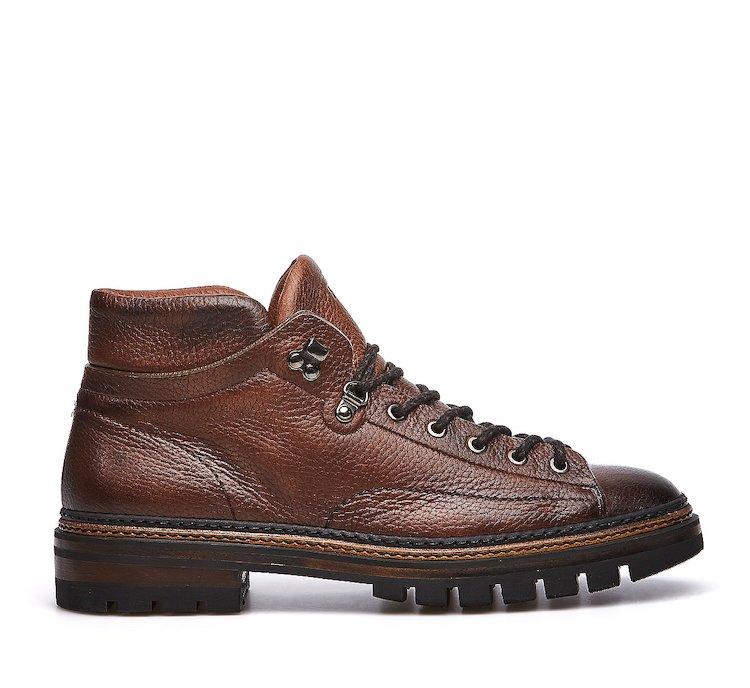 Buckskin ankle boots