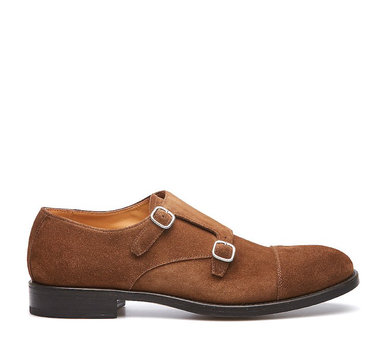 Monk shoe in suede