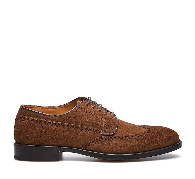 Derby shoe in suede